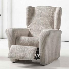Housse de fauteuil Relax Lettres Sable