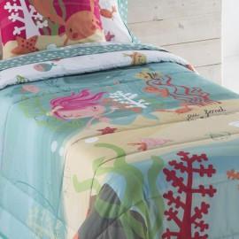 Detail couvre-lit bouti pour enfants Sirene