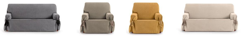Housse pour canapé avec lacets - Housses de canapé universelles