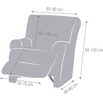 Fauteuil Relax pieds joints Akari